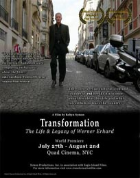 flyer for Transformation: The Life and Legacy of Werner Erhard